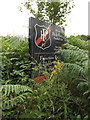 TQ4165 : Park House Football Club Rugby Ground sign by Adrian Cable