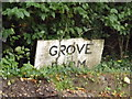 TM3072 : Grove Farm sign by Adrian Cable