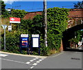 On the bank above the corner of Station Hill and The Strand. Originally named Lympstone, the station was renamed Lympstone Village in the 1990s to distinguish it from Lympstone Commando railway station which opened in May 1976.