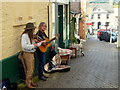 SO2242 : Elderly buskers, Hay-on-Wye by Jonathan Billinger