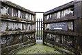 SH4068 : Telford's original tidal doors at Malltraeth : Week 36