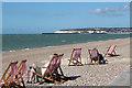 TV4898 : Deck chairs at Seaford beach : Week 36