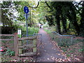 SO8402 : Jogging from Woodchester towards Stroud by Jaggery