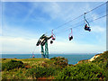 SZ3085 : Chair lift to beach, Alum Bay : Week 39