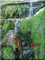 SE0214 : Waterfall on Deanhead Clough, Scammonden by Humphrey Bolton