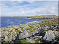 HU3633 : Coast near Point of the Sluther, Sand Wick, Bridge End, West Burra by Julian Paren