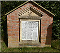 SJ5756 : 1st. World War memorial, Haughton village by Norman Caesar