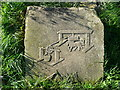 SE0236 : Carving near site of old coal shaft, Penistone Hill, Haworth by Humphrey Bolton