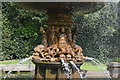 TQ6039 : Fountain, Dunorlan Park - detail by N Chadwick