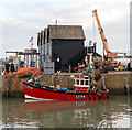 TR1066 : Small Boat in Harbour, Whitstable : Week 41