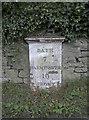 ST7756 : Norton St Philip milepost by Neil Owen