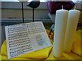 H4472 : Trinity Presbyterian Church, Omagh - Harvest Hymn Display (4) by Kenneth  Allen