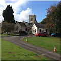 SP7433 : Thornborough church and village hall by Dave Thompson