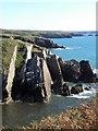 SM7423 : Rocky coastline at Porthclais by Gordon Hatton