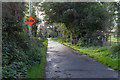 W4572 : Slow sign by the side of minor lane by David P Howard