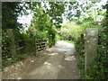 SW8534 : Cattle grid on the private lane leading to Bosloggas by Rod Allday