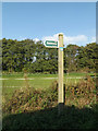 TM2381 : Angles Way Bridleway sign off Watermill Lane by Adrian Cable