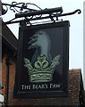 SJ7061 : Sign for the Bear's public house, Warmingham by JThomas
