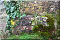 SP3320 : Benchmark on Catsham Lane railway bridge by Roger Templeman