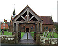 SJ4862 : Lych gate, St Peter's Church, Hargrave by JThomas