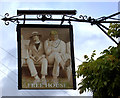 SU9691 : Jolly Cricketers pub sign, Seer Green by Robert Eva