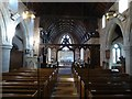 SO5659 : The interior of Pudleston church by Philip Halling
