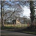 TL4346 : Thriplow: on School Lane in December by John Sutton