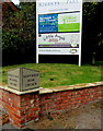 SJ6652 : Regents Park Business Centre nameboard, Nantwich by Jaggery