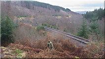 NH4660 : Dingwall to Garve railway line east of Raven Rock by Julian Paren