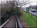 SZ1294 : Holdenhurst: footbridge ramp approaching Riverside Avenue by Chris Downer