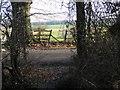 TQ2315 : Footpath reaches Blackstone Lane by Shazz