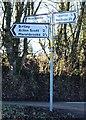 SO4791 : Misspelt signpost near Soudley by Martin Nicholson