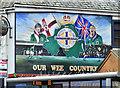 J3476 : Northern Ireland football mural, York Road, Belfast (January 2017) by Albert Bridge