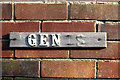 """TG2809 : """"GENTS"""" sign on a former staff toilet building by Evelyn Simak"""