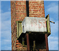 TG2809 : 1950s galvanised steel water tank by Evelyn Simak