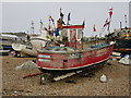 TQ8209 : Boat at Fishermen's Stade by Oast House Archive