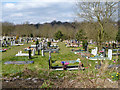 TQ2791 : Part of Islington and Camden Cemeteries by Robin Webster