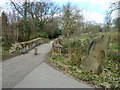 TQ2792 : Bridge over Blacketts Brook, Friary Park by Robin Webster