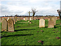 TG1923 : View across Marsham churchyard by Evelyn Simak
