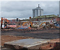 SK5805 : Demolition work on Watling Street, Leicester by Mat Fascione