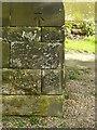 SK1846 : Bench mark, St John the Baptist Church, Ashbourne by Alan Murray-Rust