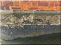 SK1746 : Bench mark, Dovehouse Green by Alan Murray-Rust