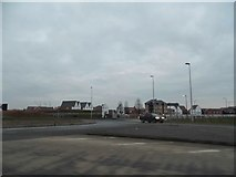 TL0545 : Roundabout on the A6, Wixams by David Howard