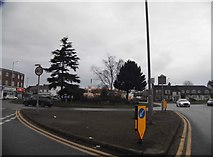 TL1023 : Roundabout on Hitchin Road, Stopsley by David Howard