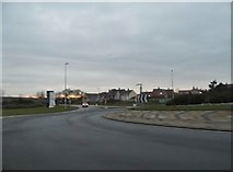 TL0544 : Roundabout on the A6, Wixams by David Howard
