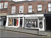 TL1407 : Shops on Holywell Hill, St Albans by David Howard