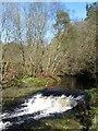 SD9729 : Gibson Mill weir by Gordon Hatton
