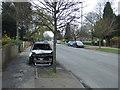 SK5342 : Burned out car on Aspley Lane by JThomas
