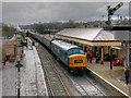 SD7916 : Peak Class Locomotive at Ramsbottom by David Dixon