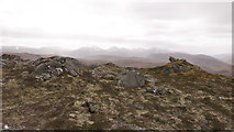 NH2951 : Summit of Meall Giubhais (573m) by Julian Paren